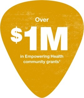Over $1M in Empowering  Health community grants - footnote 1
