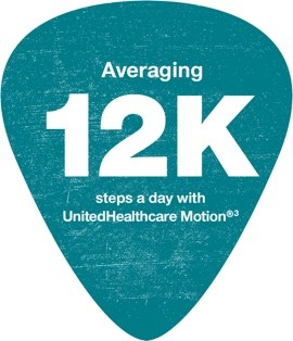 Averaging 12k steps a day with UnitedHealthcare Motion - footnote 3